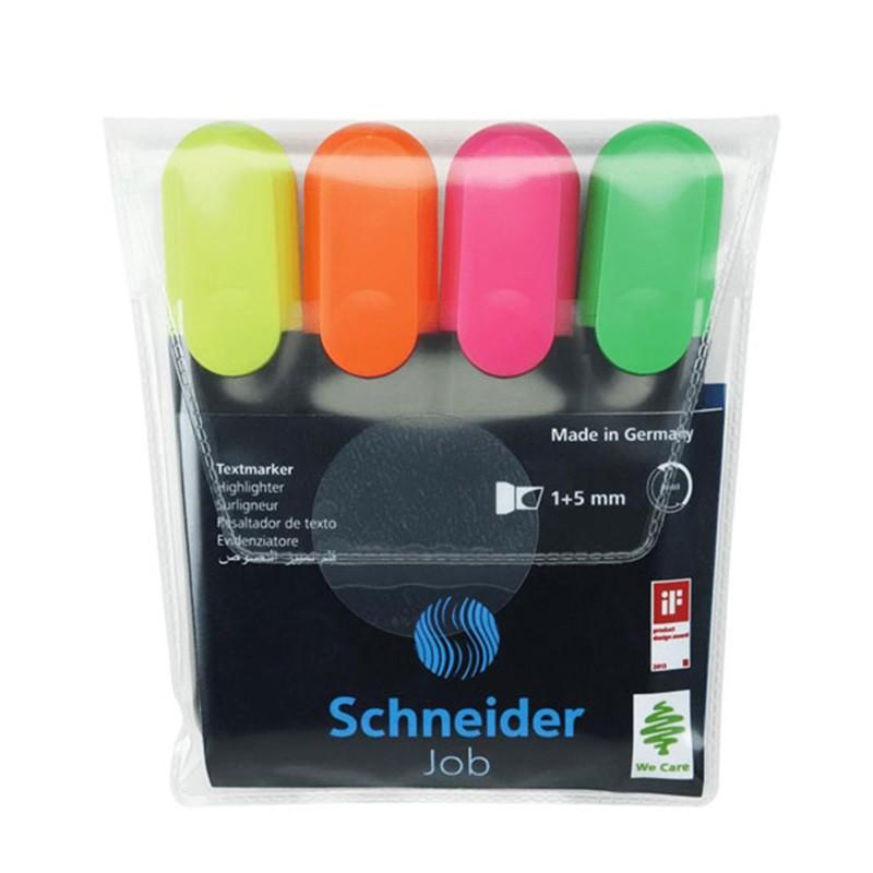 POCHETTE SCHNEIDER 4 FLUO COULEURS