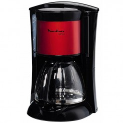 Cafetière Subito 10 tasse FG110800 Moulinex - Rouge Inox/Noir