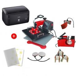 Presse à Chaud Microtec ECH-800 + Imprimante Laser Canon i-Sensys LBP 6030B + Papier transfert