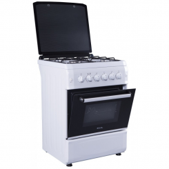 Cuisiniére 6060 REX 4 feux - Mont Blanc - Blanche