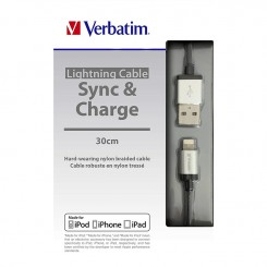 Câble de Charge Pour iPad/iPhone - Verbatim - Silver