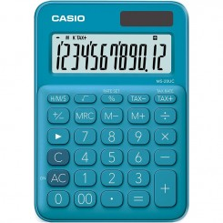 Calculatrice de bureau Casio - MS-20UC - Bleu