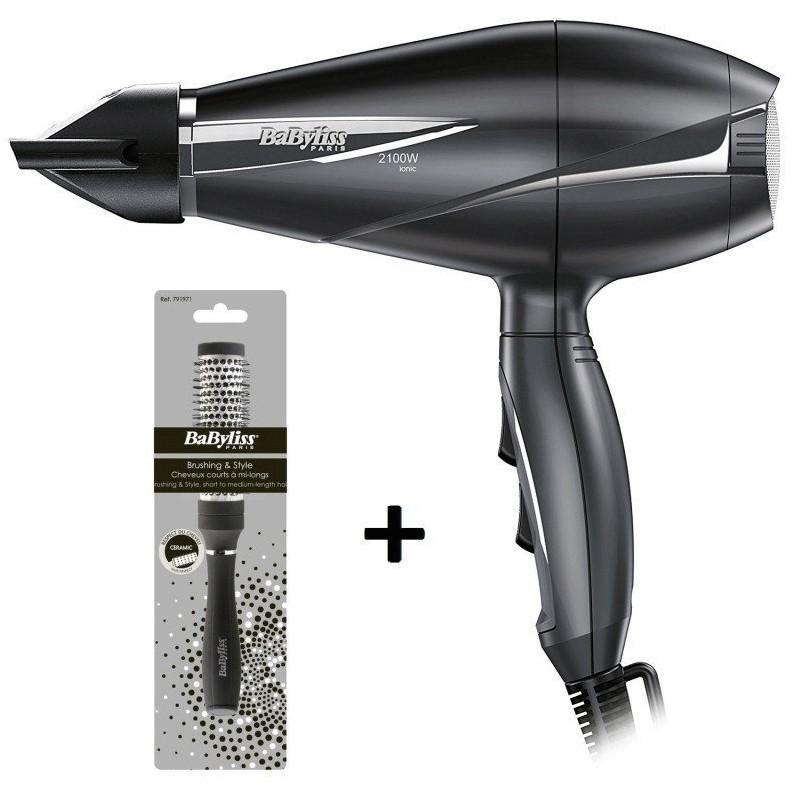 Sèche-cheveux BaByliss Pro Light 2100W + Brosse Brushing 28mm
