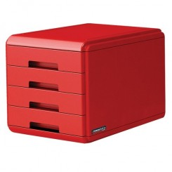 Bloc tiroir RossoItalia ARDA 18P4PRIR - Rouge