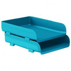 Corbeille a courrier Mydesk ARDA Turquoise 85510TU