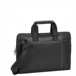 Sacoche SLIM pour pc portables 13.3 pouces RIVACASE 8920 - Noir/cuir