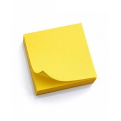 STICK NOTE APLI 75*75 JAUNE BRILLANT