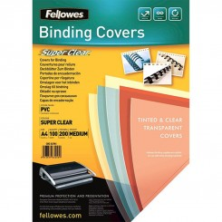 TRANSPARENT COUVERTURE A4 FELLOWES COULEUR