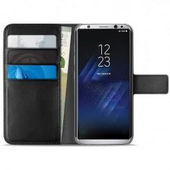 Flip Cover pour Samsung Galaxy S8 Puro + 3Slot Card - Noir