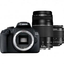 Reflex Canon EOS 2000D + Objectif 18-55mm IS + Objectif 75 - 300DC