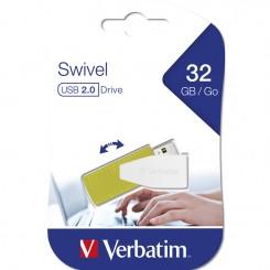 Flash Disque 32Go Swivel USB 2.0 Verbatim - Vert