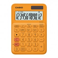 Calculatrice de bureau Casio - MS-20UC - Orange