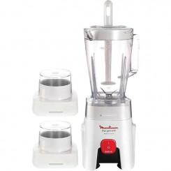 Blender 450w Bol 1,5L Moulinex LM243027 - 2 accessoires + bol gratuit
