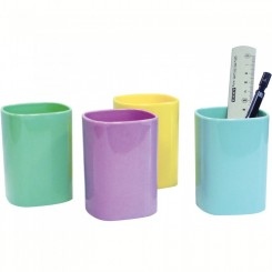 Blister de 12 pot a crayon ARDA couleur pastel 4111PASESP