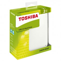 "Disque Dur Toshiba Canvio 2,5"" 2To Blanc"