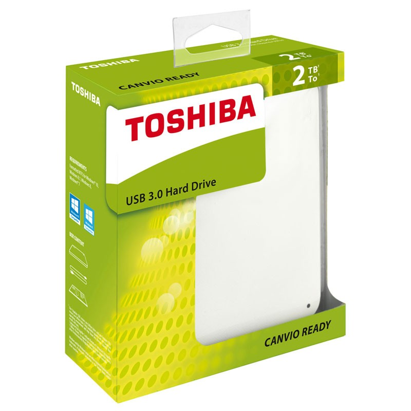 "Disque Dur Toshiba Canvio 2,5"" 2To Blanc"