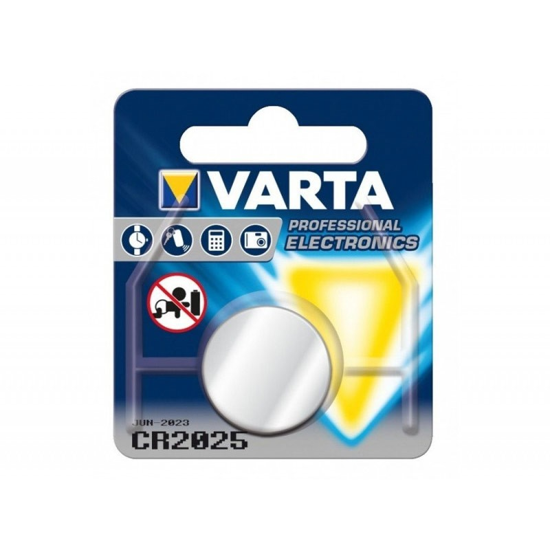 Piles électronique CR2025 VARTA Lithium 3V