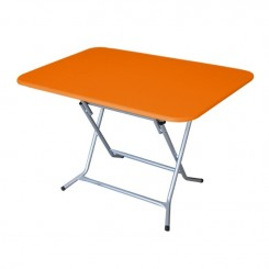 Pack Table Rectangulaire pliante 120 x 80 PVC +6 CHaise CITY - Orange