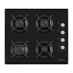 Plaque de cuisson FRANCO 60344-BF 4 Feux 60 cm - Noir