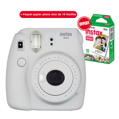 Appareil photo Instax mini 9 Fujifilm Smoky White