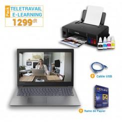Pc portable lenovo IP 130 + Imprimante Jet d'encre Canon Pixma G1411+ Cable USB