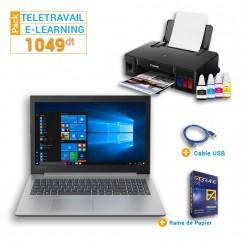 PC Portable Lenovo IP 330-15IKB + Imprimante Jet d'encre Canon Pixma G1411+ Cable USB