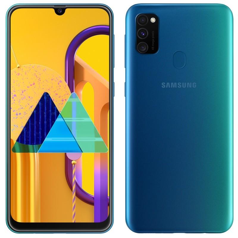 "Smartphone Samsung Galaxy M30S - 64 Go - 6.4"" - Double SIM - Bleu"