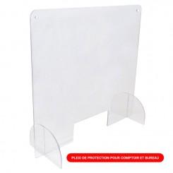 Plexi de protection pour comptoir et bureau