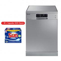 Lave Vaisselle BRANDT DFH14624X 14 Couverts - Inox + 40x Capsules SUN Classic
