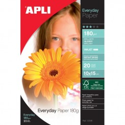 Papier photo APLI Brillant EVERDAY A4 180G 20F