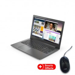 PC Portable Lenovo IP130 - i3 7é Gén - 4Go - 1To - Noir (81H700B2FE)