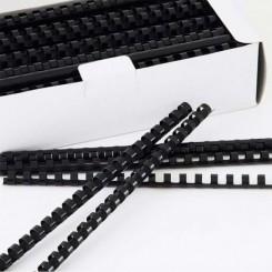 Baguettes à relier A4 paquet de 100 - 6mm - Noir