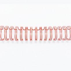 "Spirale métallique 9/16"" wire combs 3.1 (14.3mm) Rouge"