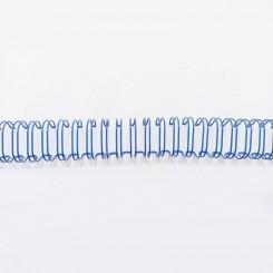 """Spirale métallique 9/16"""" wire combs 3.1 (14.3mm) Bleu"""