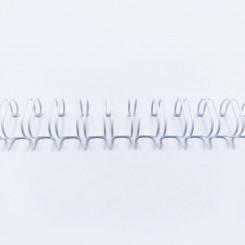 "Spirale métallique 9/16"" wire combs 3.1 (14.3mm) Blanc"