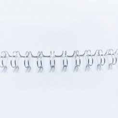"Spirale métallique 1/2"" wire combs 3.1 (12.7mm) Sliver"