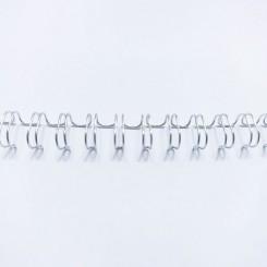 "Spirale métallique 3/8"" wire combs 3.1 (9.5mm) Silver"