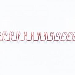 "Spirale métallique 3/8"" wire combs 3.1 (9.5mm) Rouge"