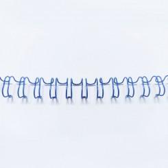 """Spirale métallique 3/8"""" wire combs 3.1 (9.5mm) Bleu"""
