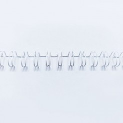 "Spirale métallique 5/16"" wire combs 3.1 (7.9mm) Blanc"