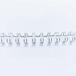 "Spirale métallique 1/4"" wire combs 3.1 (6.4mm) Silver"