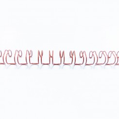 "Spirale métallique 1/4"" wire combs 3.1 (6.4mm) Rouge"