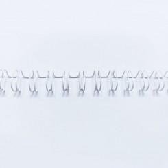 "Spirale métallique 1/4"" wire combs 3.1 (6.4mm) Blanc"