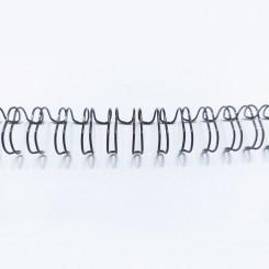 """Spirale métallique 1/4"""" wire combs 3.1 (6.4mm) Noir"""