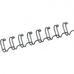 """Spirale Métallique 34 boucles 1/4"""" wire (6mm) Noir *53218*"""