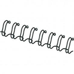 """Spirale Métallique 34 boucles 3/8"""" wire (10mm) Noir **53265*"""
