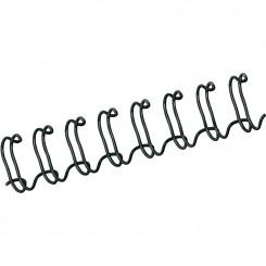 """Spirale Métallique 34 boucles 1/2"""" wire (12mm) NOIR **53273*"""