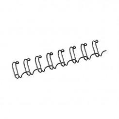"""Spirale Métallique 34 boucles 9/16"""" wire (14mm) Noir **53277*"""