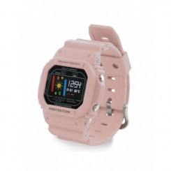 Montre connectée Ksix BXWRR Fitness Band Retro IP 68 / Rose