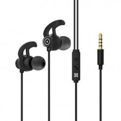 Écouteurs stéréo intra-auriculaires avec micro Promate Swift - Noir